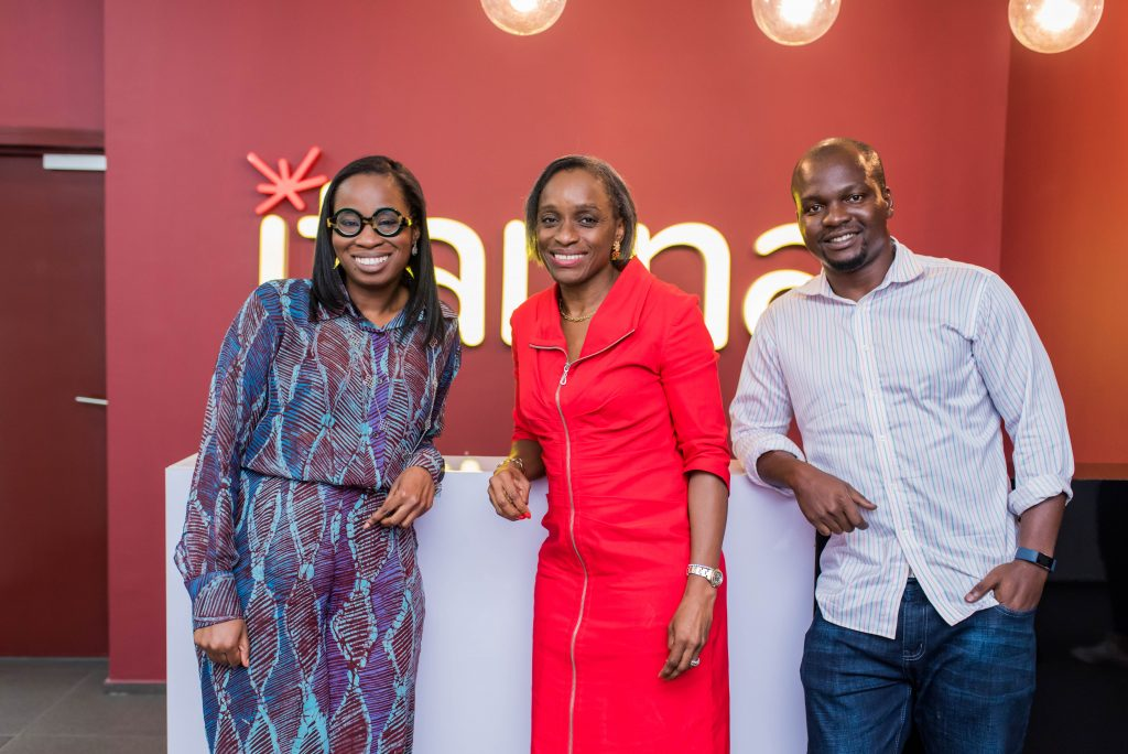 From Right to Left – Tomi Otudeko (Director, Itanna) Omobola Johnson (Lead Partner at TLCom), Tony Idugboe (Head of Investments, Itanna) at a Guest Lecture session at the Itanna Enterprise Factory